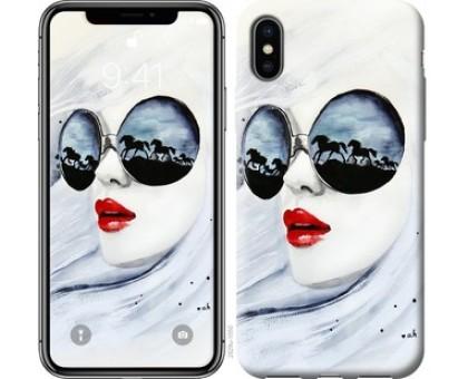 Чехол Девушка акварелью для iPhone X (5.8)