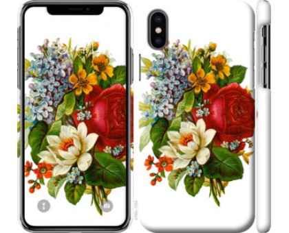 Чехол Цветы 2 для iPhone X (5.8)