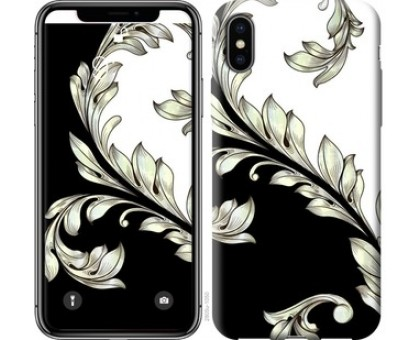 Чехол White and black 1 для iPhone X (5.8)