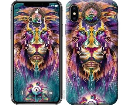 Чехол Люминесцентный лев для iPhone X (5.8)