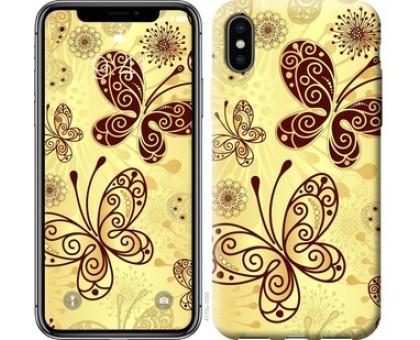 Чехол Красивые бабочки для iPhone X (5.8)