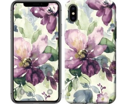 Чехол Цветы акварелью для iPhone X (5.8)