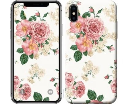 Чехол цветочные обои v1 для iPhone X (5.8)