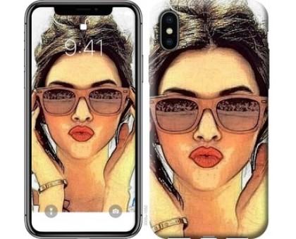 Чехол Девушка_арт для iPhone X (5.8)