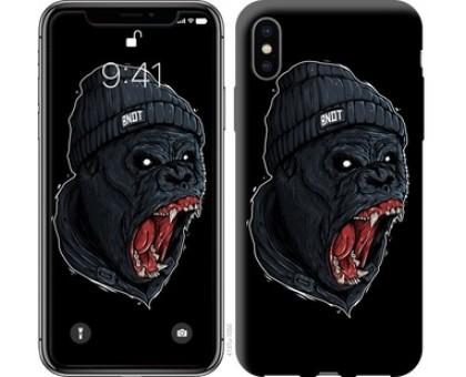 Чехол Обезьяна в ярости для iPhone X (5.8)