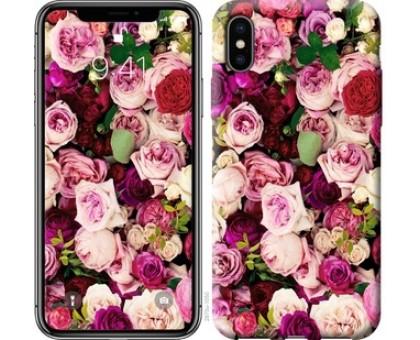 Чехол Розы и пионы для iPhone X (5.8)