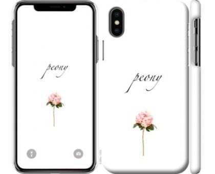 Чехол Пион для iPhone X (5.8)