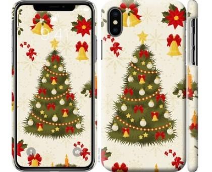 Чехол Новогодняя елка для iPhone X (5.8)