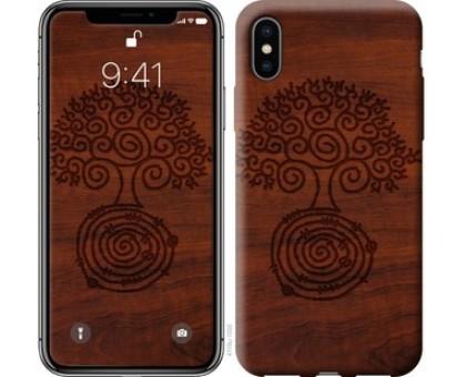 Чехол Узор дерева для iPhone X (5.8)