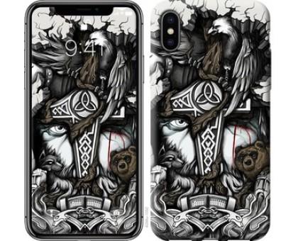 Чехол Тату Викинг для iPhone X (5.8)