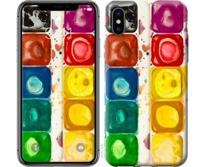 Чехол Палитра красок для iPhone X (5.8)