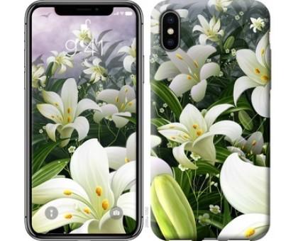 Чехол Белые лилии для iPhone X (5.8)