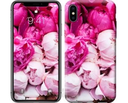 Чехол Розовые пионы для iPhone X (5.8)