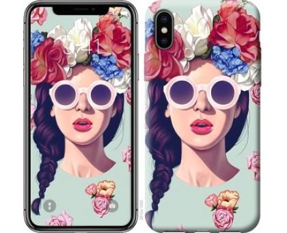 Чехол Девушка с цветами для iPhone X (5.8)
