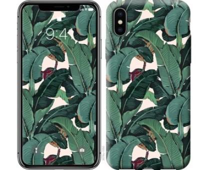 Чехол Банановые листья для iPhone X (5.8)