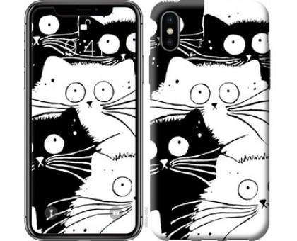 Чехол Коты v2 для iPhone X (5.8)