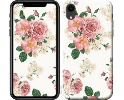 Чехол цветочные обои v1 для iPhone XR