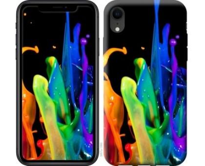 Чехол брызги краски для iPhone XR
