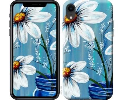 Чехол Красивые арт-ромашки для iPhone XR