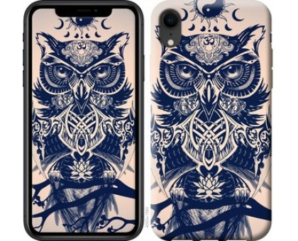 Чехол Узорчатая сова для iPhone XR