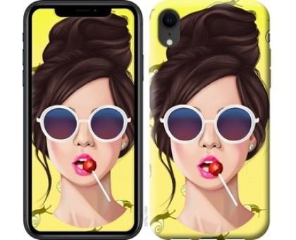 Чехол Девушка с чупа-чупсом для iPhone XR