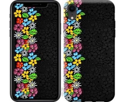 Чехол цветочный орнамент для iPhone XR