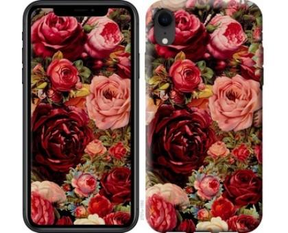 Чехол Цветущие розы для iPhone XR
