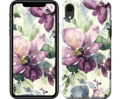 Чехол Цветы акварелью для iPhone XR