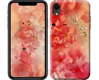 Чехол Розовые цветы для iPhone XR