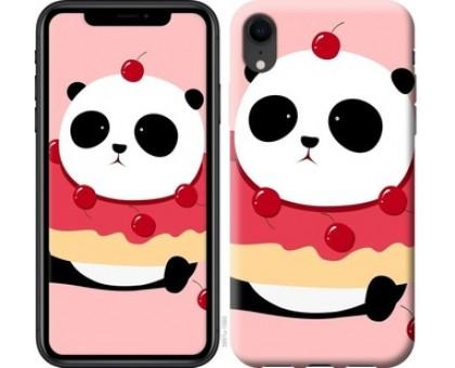Чехол Панда с пончиком для iPhone XR