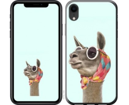 Чехол Модная лама для iPhone XR