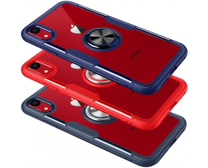 TPU+PC чехол Deen CrystalRing for Magnet (opp) для Apple iPhone XR (6.1)