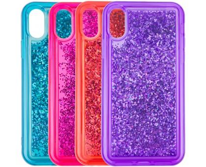 TPU+PC чехол Sparkle (glitter) для Apple iPhone X / XS (5.8)