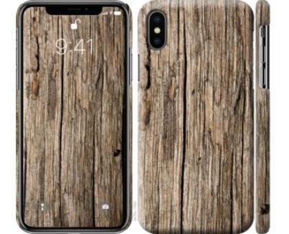Чехол Текстура дерева для iPhone XS (5.8)