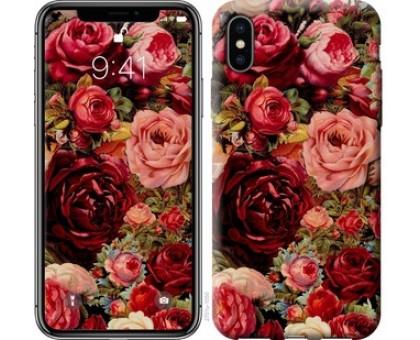 Чехол Цветущие розы для iPhone XS (5.8)