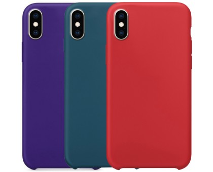 Чехол Silicone Case without Logo (AA) для Apple iPhone X / XS (5.8)