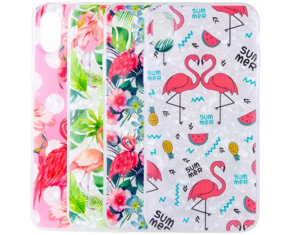 Накладка Glue Case Фламинго для Apple iPhone X (5.8) / XS (5.8)