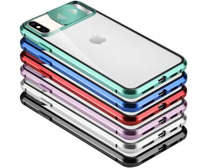 Чехол Camshield 360 Metall+Glass со шторкой для камеры для Apple iPhone X / XS (5.8)