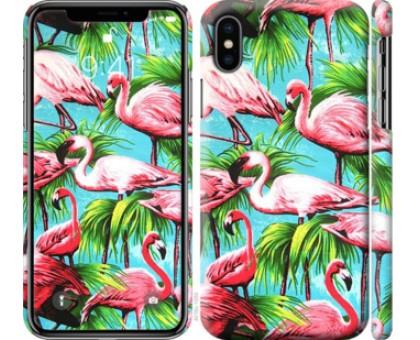 Чехол Tropical background для iPhone XS (5.8)