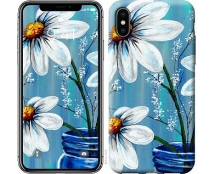 Чехол Красивые арт-ромашки для iPhone XS (5.8)