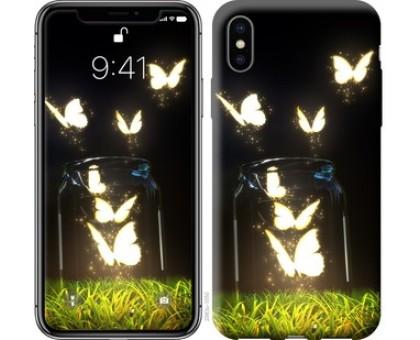 Чехол Бабочки для iPhone XS (5.8)
