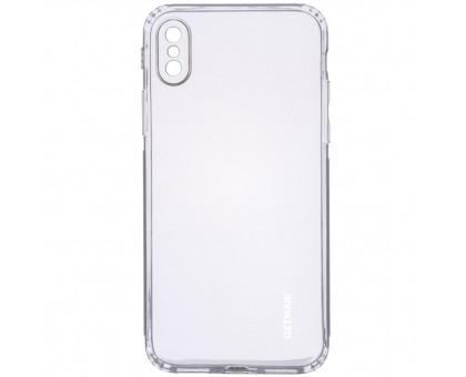TPU чехол GETMAN Clear 1,0 mm для Apple iPhone X / XS (5.8)