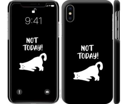 Чехол Уставший кот для iPhone XS (5.8)