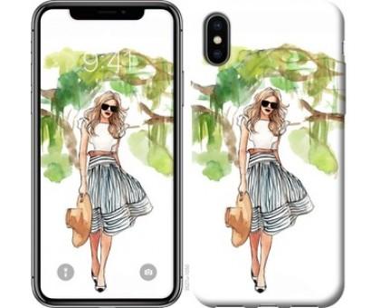 Чехол Девушка арт 2 для iPhone XS (5.8)