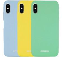 "Чехол Silicone Case GETMAN for Magnet для Apple iPhone X / XS (5.8"")"
