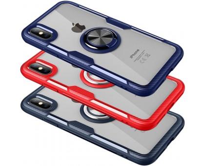 TPU+PC чехол Deen CrystalRing for Magnet (opp) для Apple iPhone X / XS (5.8)