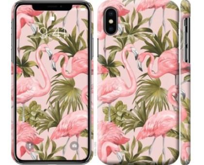 Чехол фламинго 2 для iPhone XS (5.8)