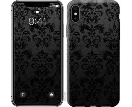 Чехол узор черный для iPhone XS (5.8)