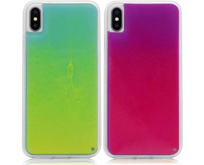 Неоновый чехол Neon Sand glow in the dark для Apple iPhone X / XS (5.8)