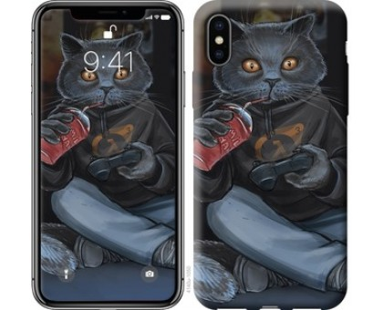 Чехол gamer cat для iPhone XS (5.8)
